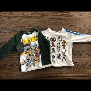 Baby Gap toddler boys long sleeved shirt bundle 2T